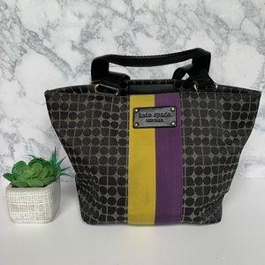 Kate Spade classic Noel yellow/purple stripe bag